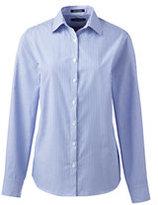 Classic Women's Regular Long Sleeve Pattern Broadcloth Shirt-White