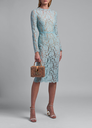 Dolce & Gabbana Lace Long-Sleeve Sheath Dress