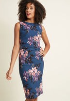 ModCloth Sassy and You Know It Sheath Dress in Floral in L
