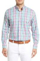 Tailorbyrd Men's Cliffrose Regular Fit Buffalo Check Sport Shirt