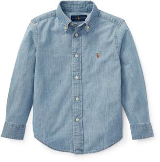 Ralph Lauren Kids Woven Chambray Shirt, Size 4-7