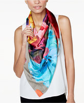Echo Painterly Floral Silk Square Scarf