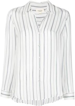 L'Agence Striped Silk Shirt