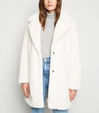 New Look Faux Fur Longline Coat