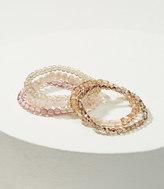 LOFT Iridescent Beaded Stretch Bracelet Set