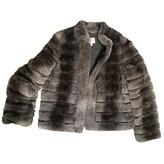 Armani Collezioni Grey Rabbit Coat for Women