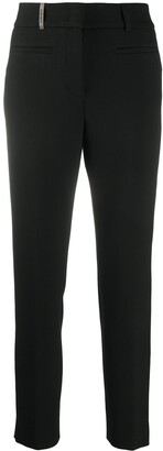Peserico High-Rise Slim-Fit Cropped Trousers