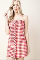 Honey Punch Plaid Tube-Top Dress