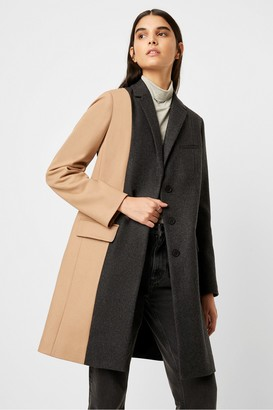 French Connection Carmelita Colour Block Wool Coat