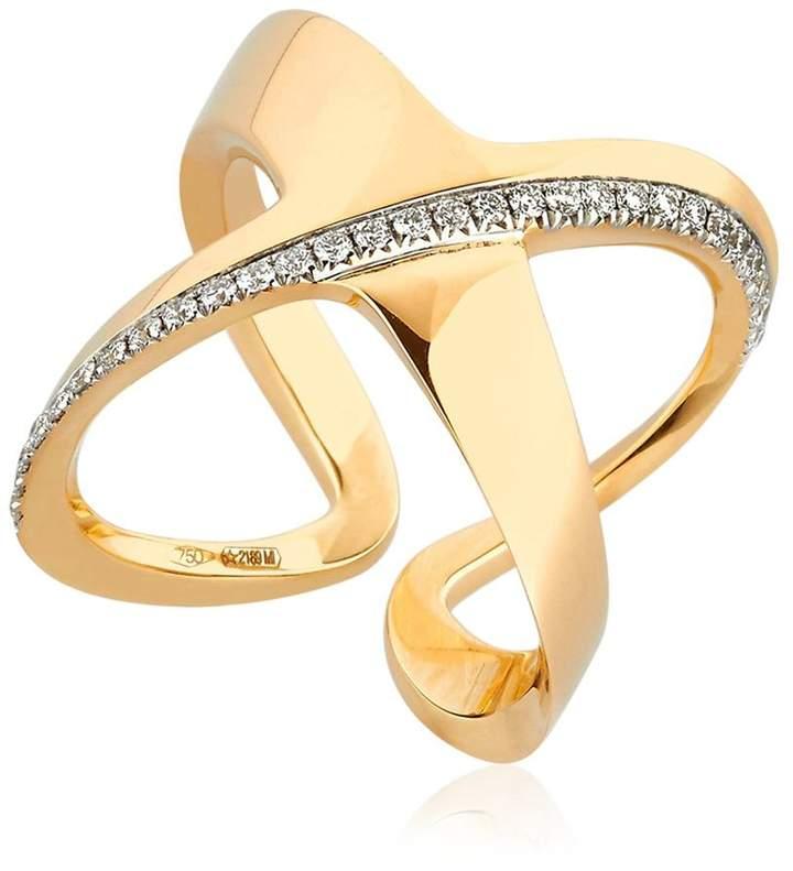 Antonini Siracusa Crisscross Diamond Ring