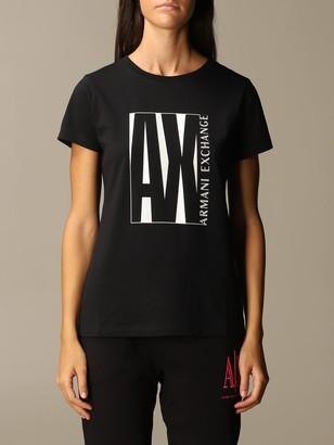Armani Collezioni Armani Exchange T-shirt Big Regular Logo Half Sleeve Crewneck