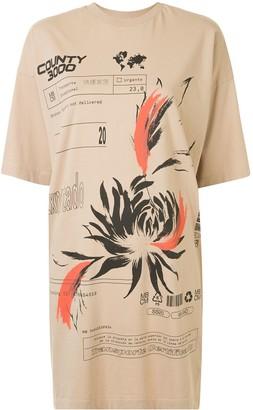 Marcelo Burlon County of Milan printed short T-shirt dress