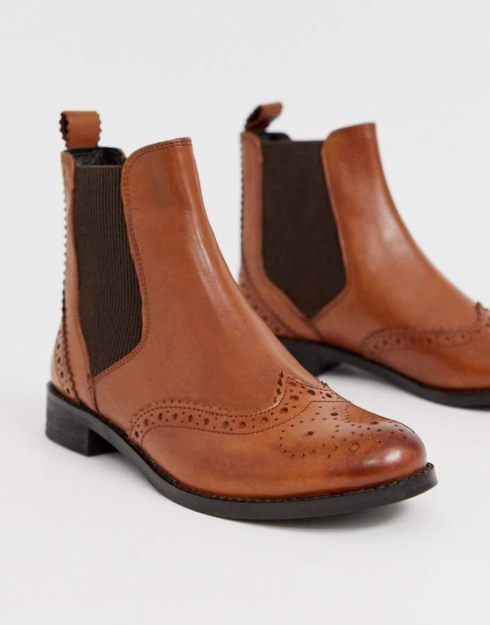 official sale details for durable service Parks leather chelsea boot in tan