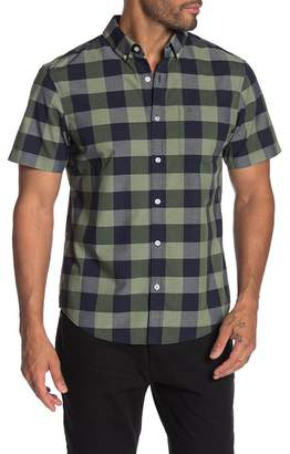 Original Penguin Plaid Print Short Sleeve Slim Fit Shirt