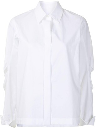Odeeh Shirt With Pleat Detailing At Sleeves