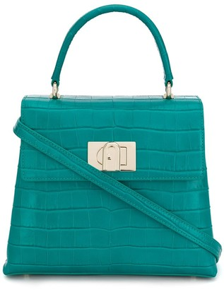 Furla 1942 Crocodile-Embossed Tote Bag
