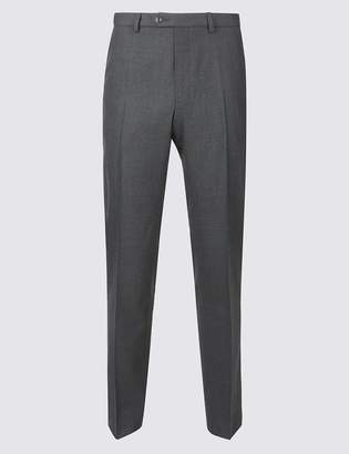 M&S CollectionMarks and Spencer Tailored Fit Pure Wool Flat Front Trousers