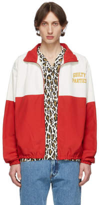 Wacko Maria Red and White Guilty Parties Track Jacket