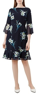 Hobbs London Adriana Bell-Sleeve Dress