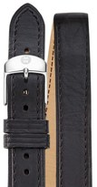 Michele 18mm Leather Strap Watch
