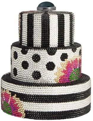 Judith Leiber Bridal Black Tie Wedding Cake Clutch Bag