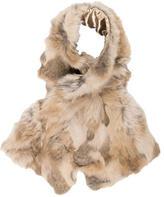 Adrienne Landau Brown Fur Stole