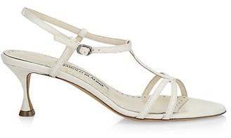 Manolo Blahnik Raqui Snakeskin Sandals