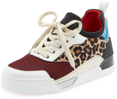 Christian Louboutin Men's Aurelien Colorblock Low-Top Sneaker