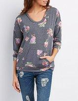 Charlotte Russe Floral Pullover Hoodie
