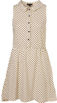 Spotted Scallop Collar Dress