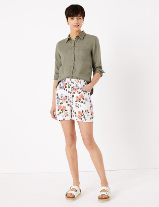 Marks and Spencer Linen Floral Shorts