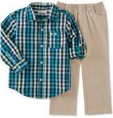 Kids Headquarters Little Boys' 2-Pc. Plaid Shirt & Pants Set