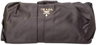 Prada Grey Cloth Clutch bags