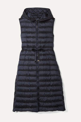 Max Mara The Cube Quilted Shell Down Vest - Midnight blue
