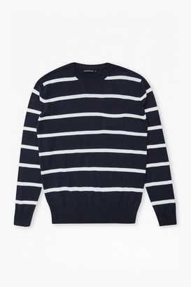 French Connection 12G Crew Stripe Jumper