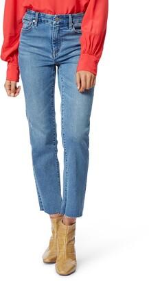 Habitual Lilly High Waist Raw Hem Ankle Straight Leg Jeans