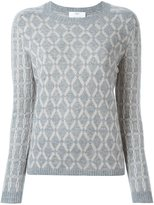 Allude diamond intarsia sweater
