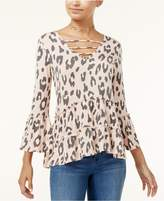 Miss Chievous Juniors' Strappy Printed Peasant Top
