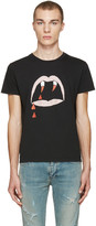 Saint Laurent Black Blood Luster T-Shirt