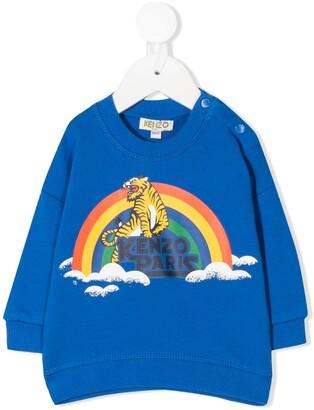 Kenzo Kids Rainbow Tiger Print Sweatshirt