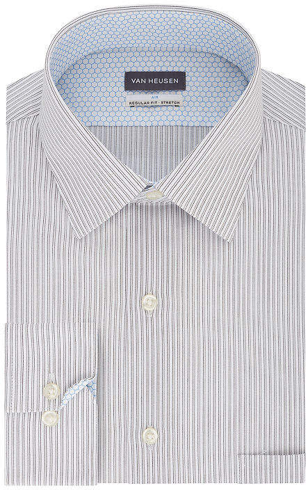 539de8c4f2 Air Regular Fit Mens Spread Collar Long Sleeve Wrinkle Free Stretch Cooling  Dress Shirt
