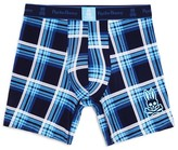 Psycho Bunny Peacoat Carolina Large-Plaid Boxer Brief