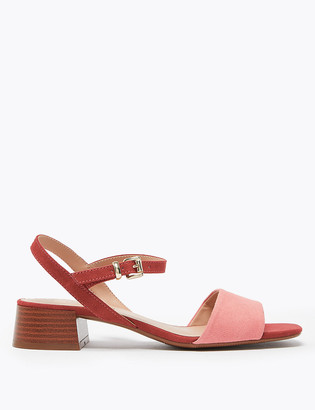 Marks and Spencer Suede Ankle Strap Open Toe Sandals