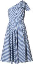 Milly single shoulder flared dress
