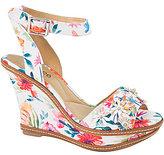 J. Renee Alawna Floral Print Wedge Sandals