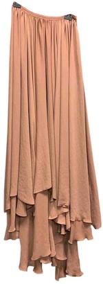 Lanvin Beige Silk Skirt for Women