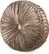 "J Queen New York Bradshaw Tufted 15"" x 2"" Round Decorative Pillow Bedding"
