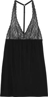 Cosabella Sweet Dreams Lace-paneled Stretch-micro Modal Chemise