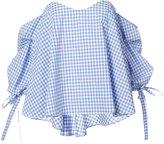 Caroline Constas checked off shoulder blouse