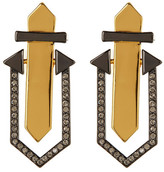 Botkier Embellished Geometric Stud Drop Earrings